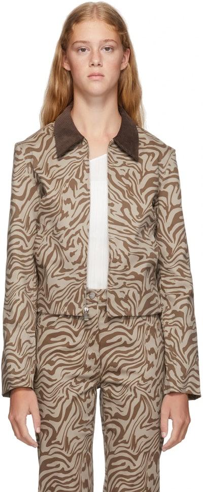 Tan Zebra Jacket