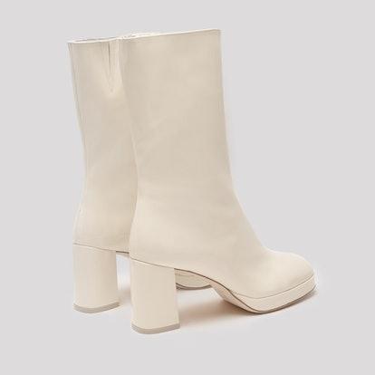 Carlota Buttermilk Patent Leather Boots