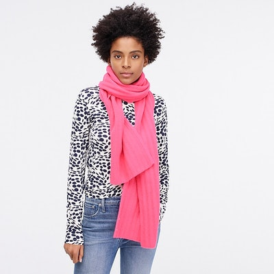 Ribbed Scarf In Everyday Cashmere