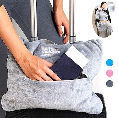 LET'S INNOVATE LIFE 4 in 1 Travel Blanket