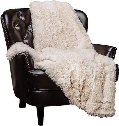 Chanasya Shaggy Faux Fur Throw Blanket