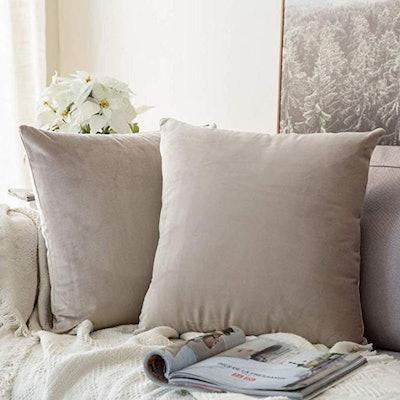 MIULEE Velvet Decorative Pillow Covers