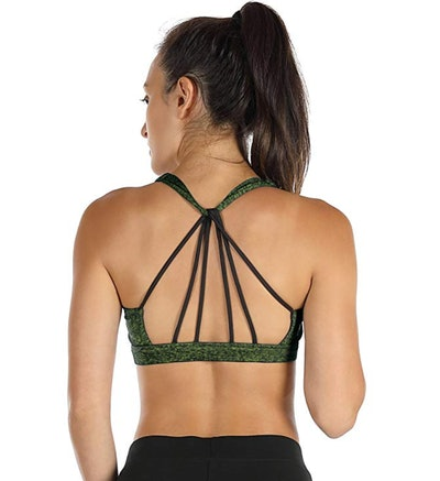 icyzone Padded Strappy Sports Bra