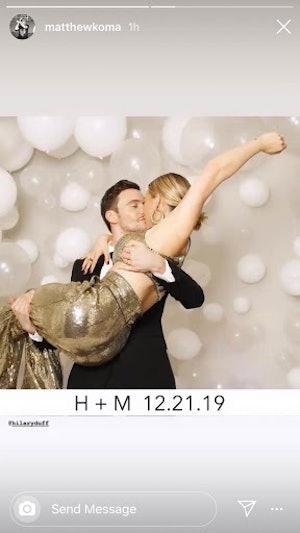Matthew Koma and Hilary Duff wedding pics