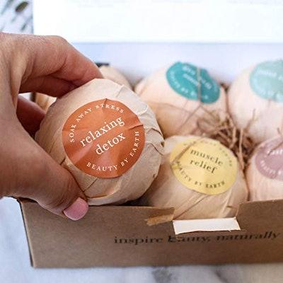 Beauty By Earth Bath Ball Gift Set (Set of 6)
