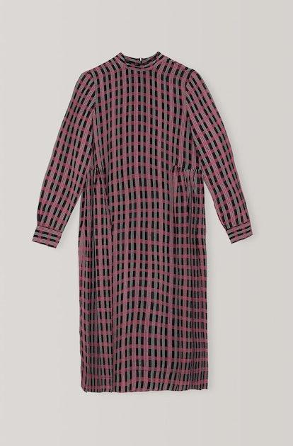 Printed Georgette Midi Dress