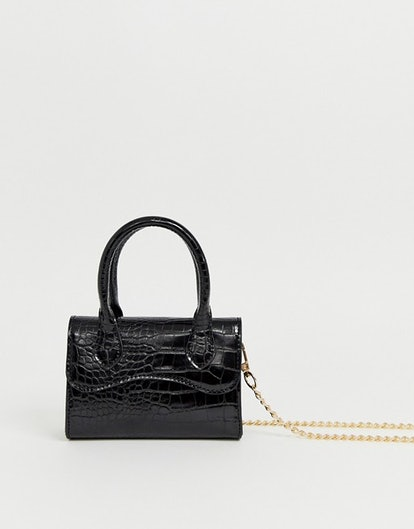 ASOS DESIGN Micro Grab Bag with Curved Flap and Detachable Strap