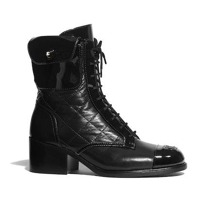 Patent Calfskin Boots