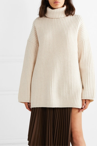 Disa Oversized Wool Turtleneck Sweater