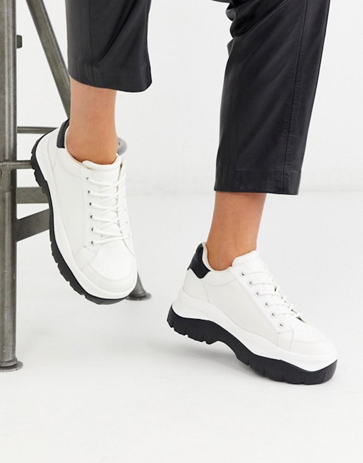 London Rebel Chunky Sneaker in White
