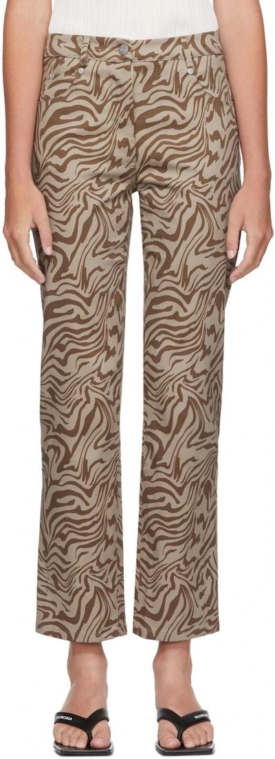 Brown Zebra Jeans