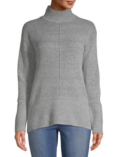 Jason Maxwell Women's Mock Neck Tunic Sweater