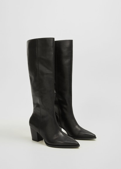Tall Leg Leather Boots
