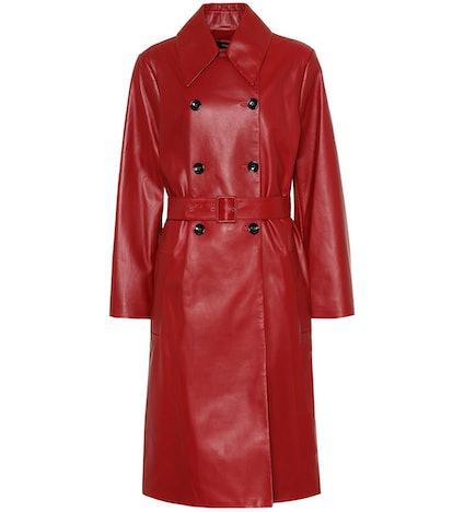 Romney Leather Trench Coat