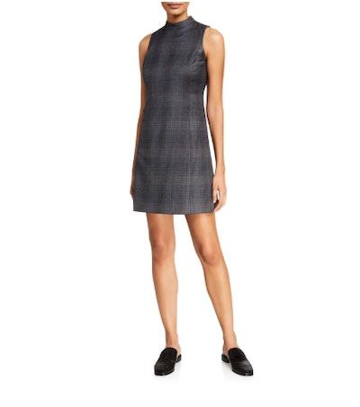Soft Plaid Wool Mod Dress