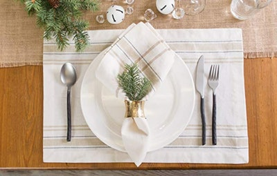 DII 100% Cotton Everyday French Placemat (Set Of 6)