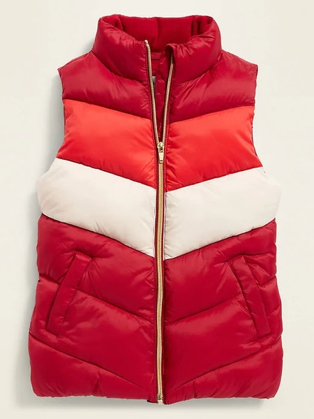 Frost Free Color Block Puffer Vest