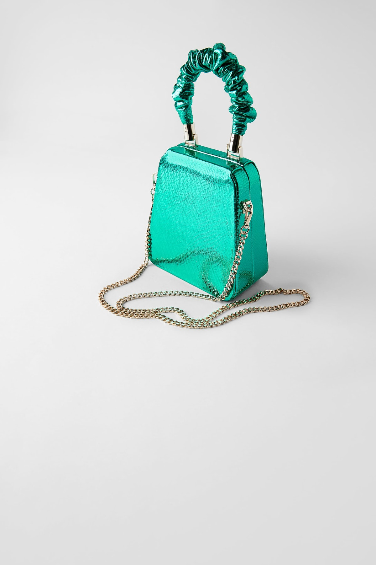 Blue Collection Clutch Box Bag