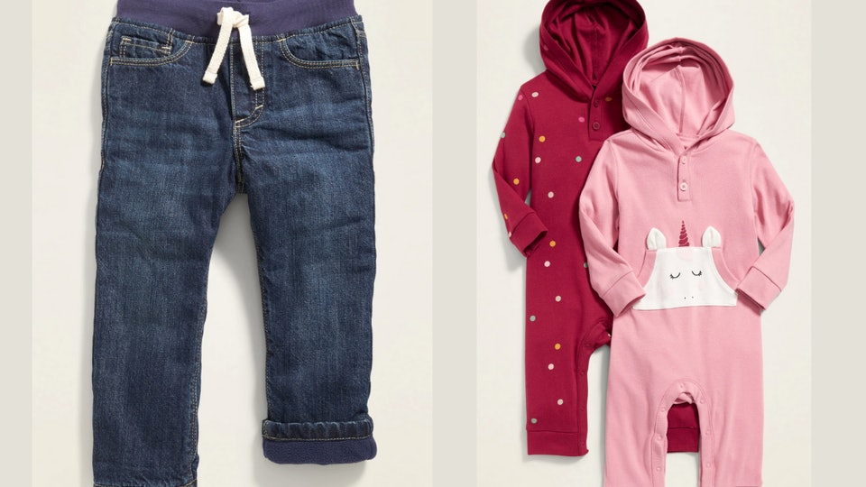 image of hooded henleys and fleece lined jeans.