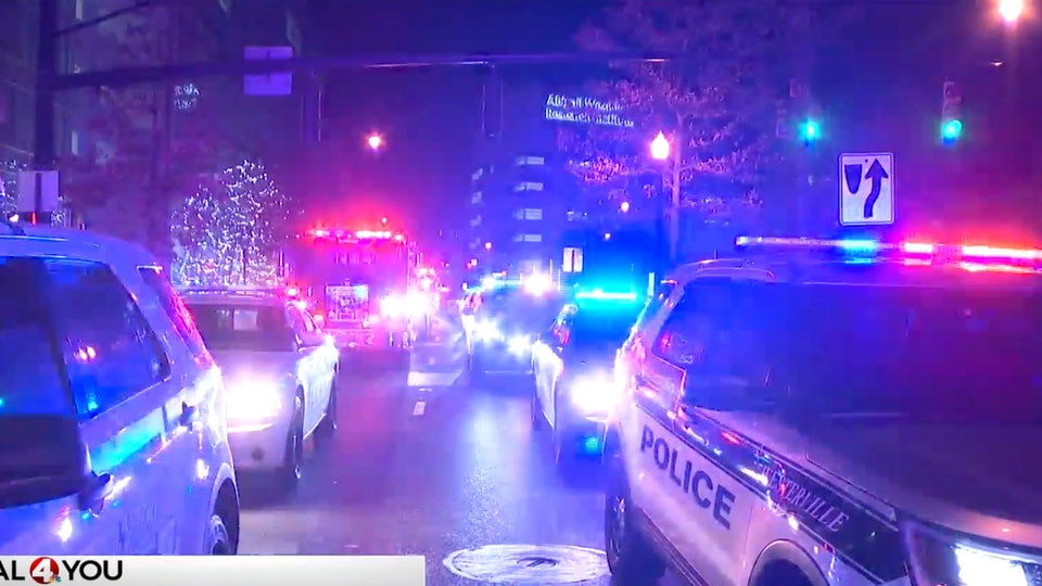 First responders created a special light show for kids at Nationwide Children's Hospital in Columbus, Ohio.