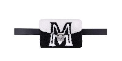 Mini Shearling Logo Belt Bag
