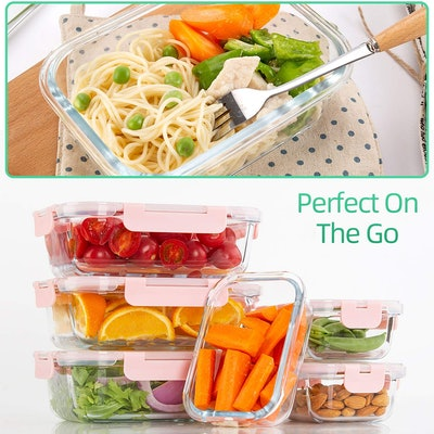 C CREST Glass Meal Prep Containers (10 Pack)