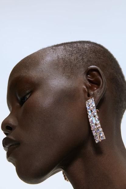Rectangular Sparkly Earrings