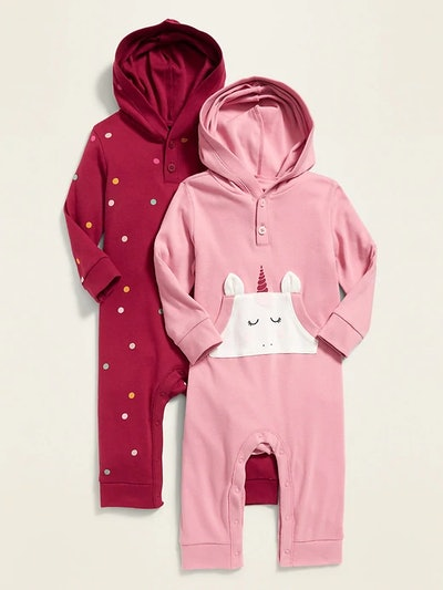 Hooded Henley One Piece Two Pack