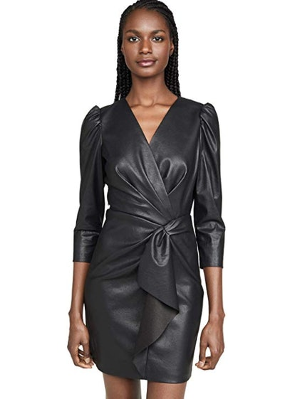 Long Sleeve Vegan Leather Dress