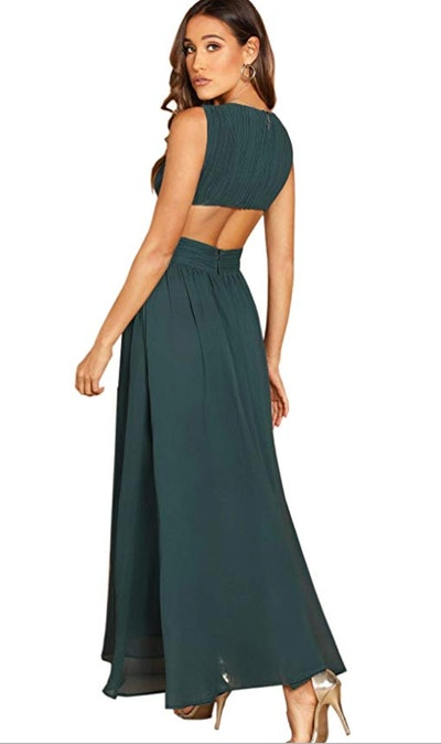 Floerns Backless Chiffon Formal Maxi Dress