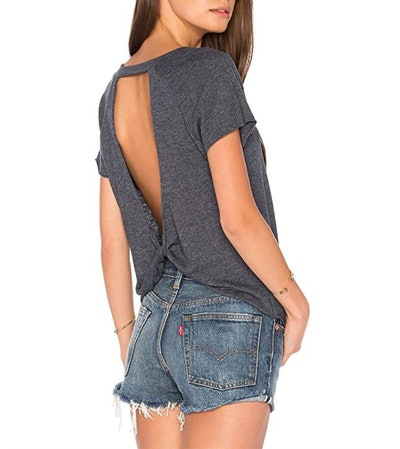 Blooming Jelly Backless Back Knot Top