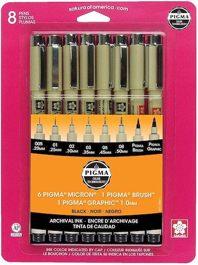 Sakura Pigma 30067 Micron Ink Pen Set (8-Pack)