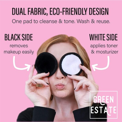 Green Estate Reusable Makeup Remover Pads (14 Pack)
