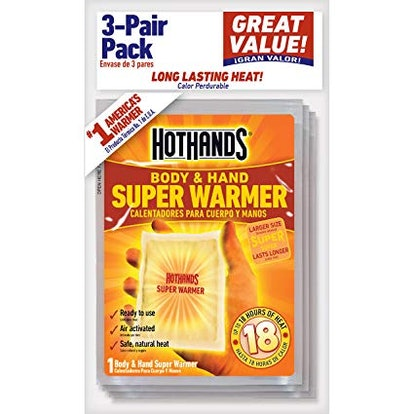 HotHands Body & Hand Super Warmers (3 Pairs)
