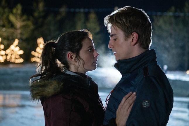 Kaya Scodelario and  Evan Roderick as Kat and Justin in Netflix's Spinning Out