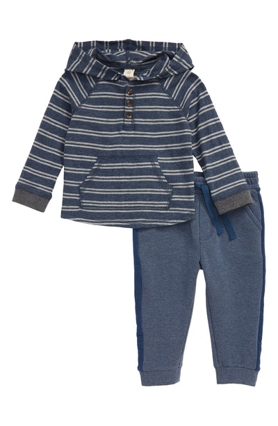 TUCKER + TATE Stripe Hoodie & Sweatpants Set