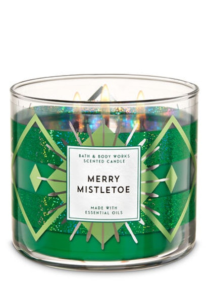 Merry Mistletoe 3-Wick Candle