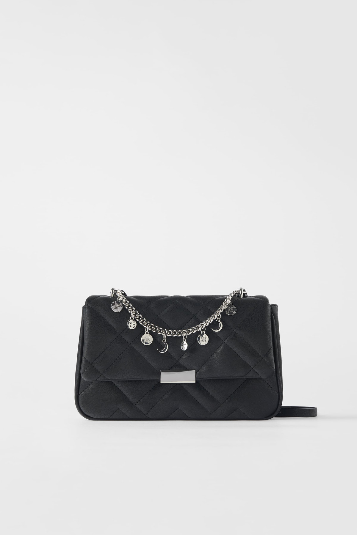 Beaded Quilted Crossbody Bag