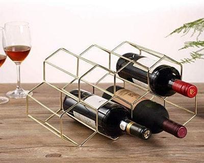 DCIGNA Gold Countertop Wine Rack