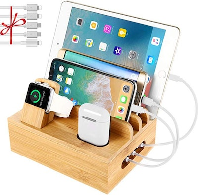 NEXGADGET Bamboo Charging Station Dock
