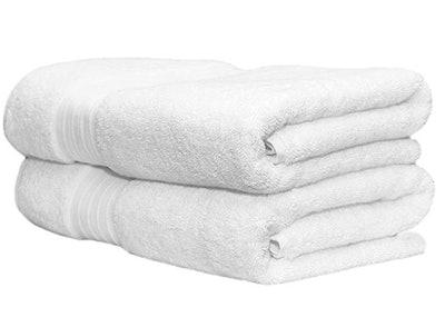 Whisper Organics 100% Organic Premium Turkish Cotton Bath Towels (Set Of 2)