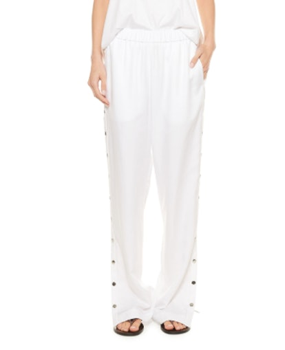 Spring Suiting Pull-On Pants with Snaps