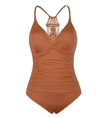 Firpearl Women's Halter One Piece Swimsuit