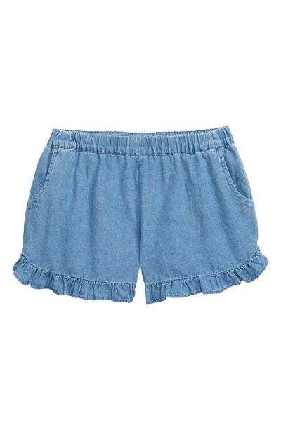 Seed Heritage Frill Chambray Shorts