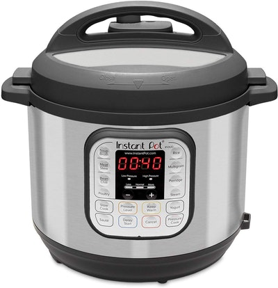 Instant Pot Duo 80 7-in-1 Electric Pressure Cooker, Slow Cooker, Rice Cooker, Steamer, Saute, Yogurt Maker, and Warmer, 8-QT, Stainless Steel