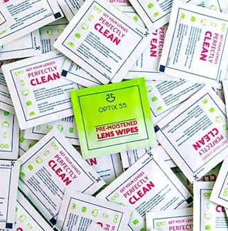 Optix 55 Eyeglass Cleaner Lens Wipes (100-Pack)