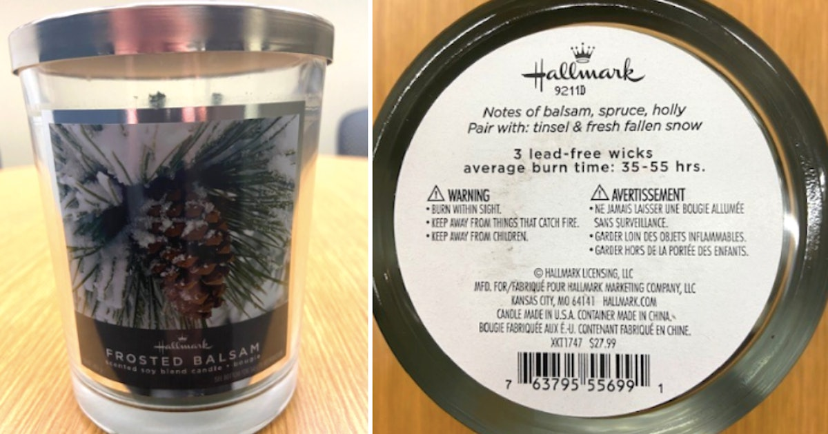 Hallmark Recalls Holiday Scented Candles After Glass Jars Broke When Heated