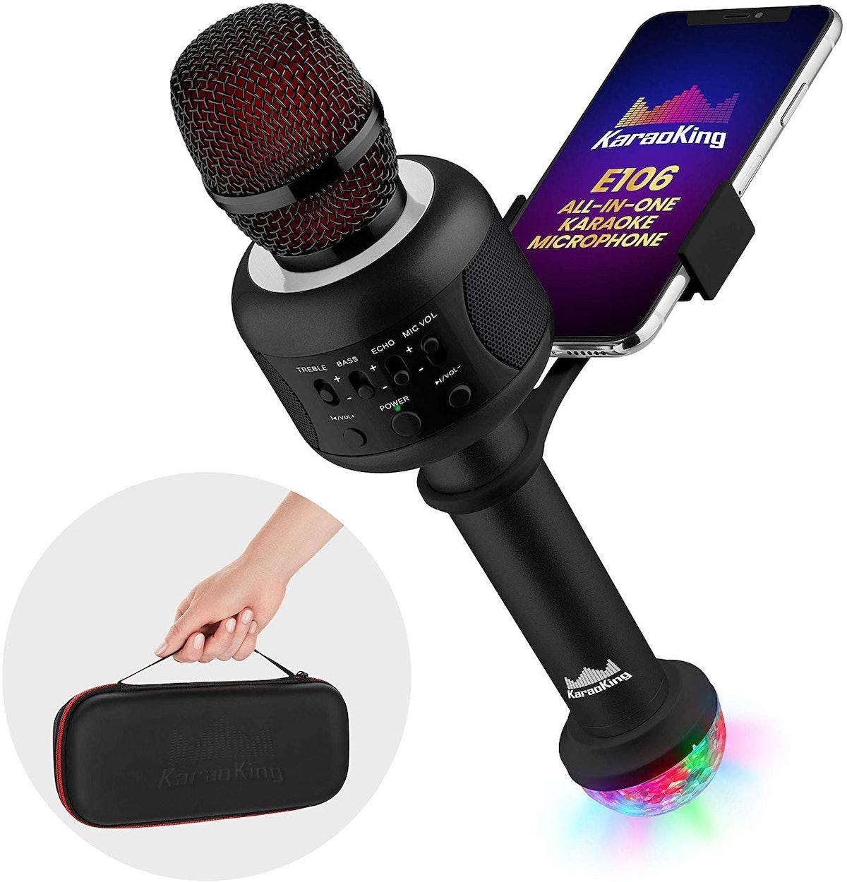 KaraoKing Bluetooth Karaoke Microphone