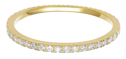 PAVOI 14K Gold Plated Sterling Silver CZ Ring