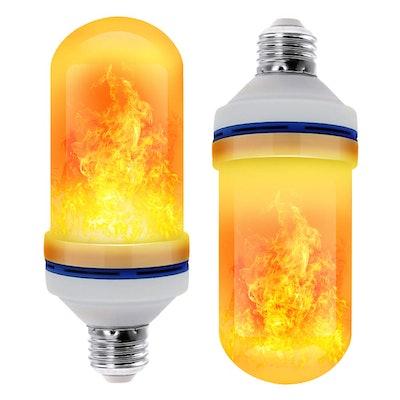 LED Flame Effect Light Bulb (2-Pack)